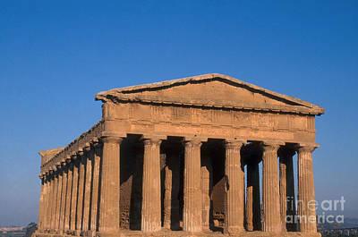 Temple Of Concordia, Sicily Print by Catherine Ursillo