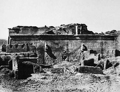 Hathor Photograph - Temple Of Hathor, 1850 by Granger