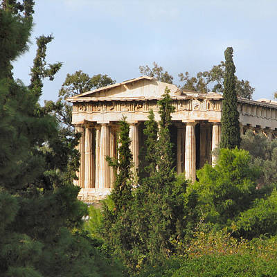 Hephaestus Wall Art - Photograph - Temple Of Hephaestus - Athens by Lin Grosvenor