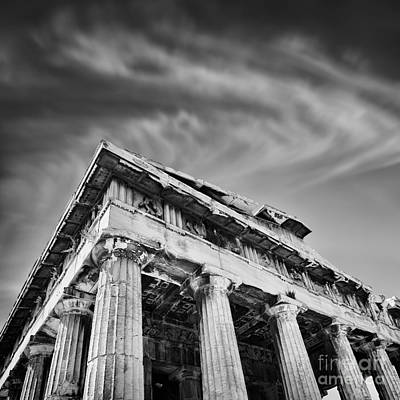 Temple Of Hephaestus- Athens Art Print by Rod McLean