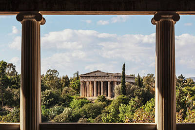Hephaestus Wall Art - Photograph - Temple Of Hephaestus, Greek Orthodox by Reynold Mainse