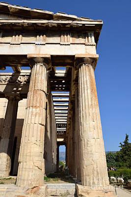 Plaka Photograph - Temple Of Hephaestus In Athens by George Atsametakis