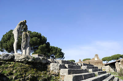 Photograph - Temple Of Hercules In Ostia by Brenda Kean