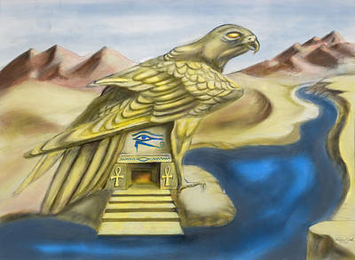 Temple Of Horus One Of Three Art Print by Michael Cook