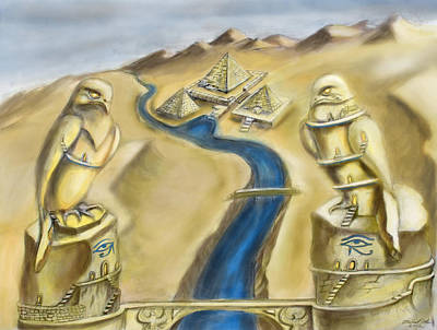 Temple Of Horus Two Out Of Three Art Print by Michael Cook