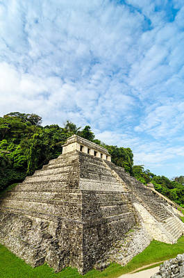 Precolumbian Photograph - Temple Of Inscriptions Vertical by Jess Kraft