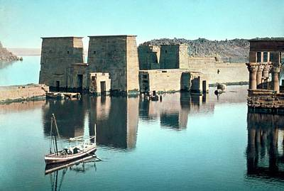 Floods Photograph - Temple Of Isis At Philae by Library Of Congress