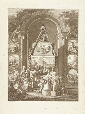 Temple Of Manners Depicting The Duties To God Art Print