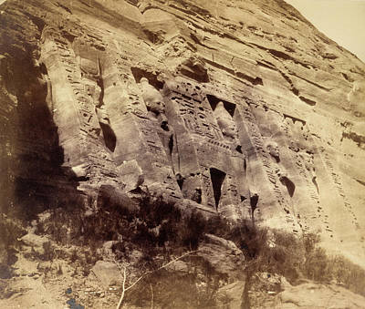 Low Relief Photograph - Temple Of Nefertari by British Library