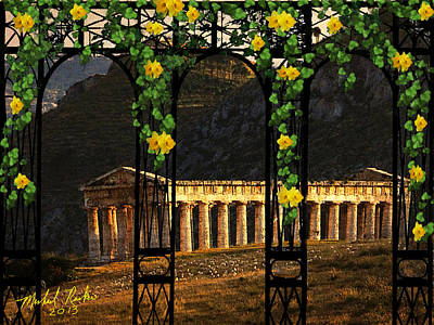 Athena Digital Art - Temple Of Neptune - Italy by Michael Rucker