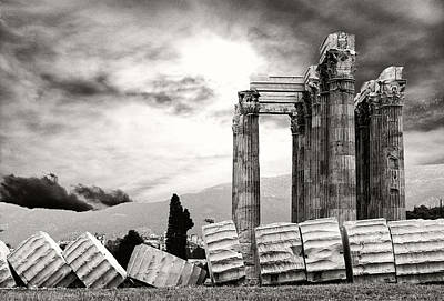 Zeus Photograph - Temple Of Olympian Zeus by Manolis Tsantakis