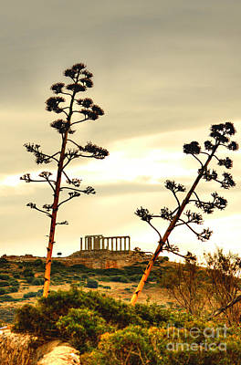 Photograph - Temple Of Poseidon At Sounion 2 by Deborah Smolinske