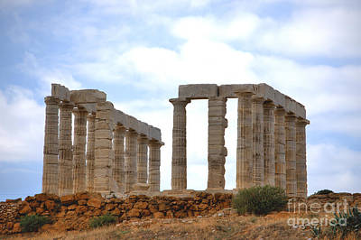 Photograph - Temple Of Poseidon At Sounion 3 by Deborah Smolinske