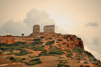 Photograph - Temple Of Poseidon At Sounion by Deborah Smolinske