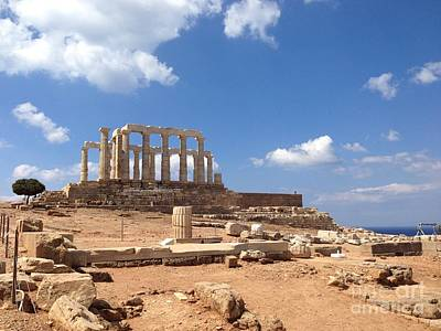 Sounion Photograph - Temple Of Poseidon by Denise Railey