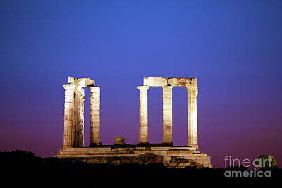 Sounion Photograph - Temple Of Poseidon by Lynne Sutherland