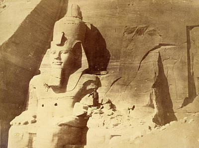 In Relief Photograph - Temple Of Ramses II by British Library