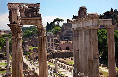 Temple Of Saturn Forum Temple Of Castor Art Print
