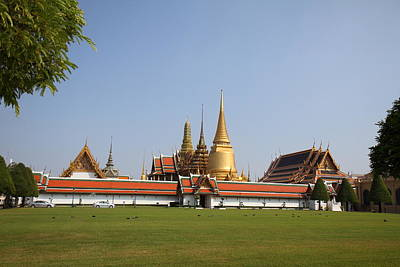 Temple Of The Emerald Buddha - Grand Palace In Bangkok Thailand - 01131 Art Print