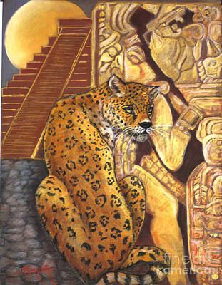 Painting - Temple Of The Jaguar by Pamela Mccabe