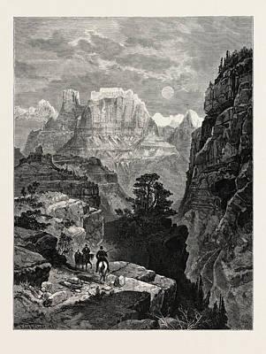 Temple Of The Virgin, Mu-koon-tu-weap Valley Art Print