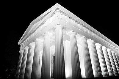 Photograph - Temple Of Theseus At Night by John Rizzuto