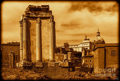 Temple Of Vesta Art Print