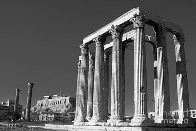 Strong Contrasts Photograph - Temple Of Zeus by Gabriela Insuratelu