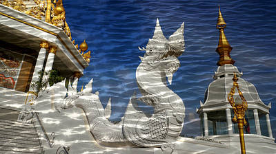 Photograph - Temple Reflection by Ian Gledhill