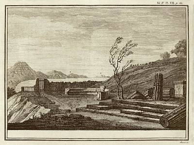 Temple Ruins At Pompeii Art Print by Middle Temple Library