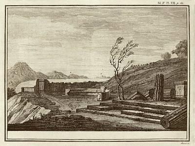 Temple Ruins At Pompeii Art Print