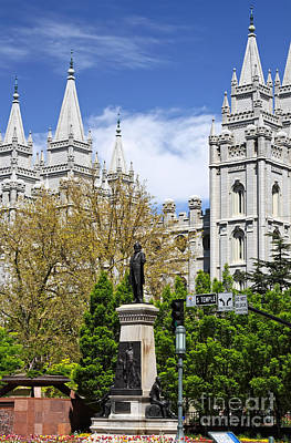 Photograph - Temple Square by Charline Xia