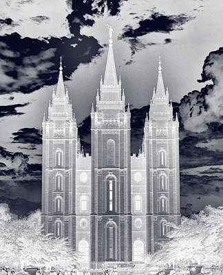 Photograph - Temple Square Nightmare by Joshua House