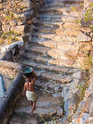 Photograph - Temple Steps by Nila Newsom