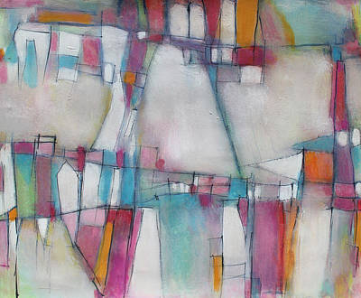 Hari E. Thomas Abstract Painting - Temple Walls by Hari Thomas
