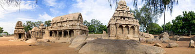 Photograph - Temples At Mamallapuram by Ross G Strachan