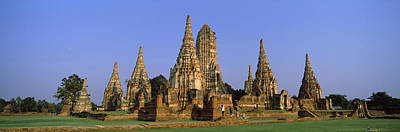 Temples In A Field, Wat Art Print by Panoramic Images