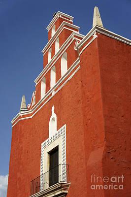 Photograph - Templo San Juan De Dios Merida Mexico by John  Mitchell