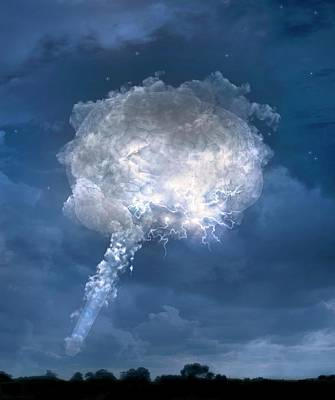 Lightning Photograph - Temporal Lobe Epilepsy by Tim Vernon