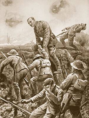 War Hero Drawing - Temporary Major S.w. Loudoun-shand by Alfred Pearse