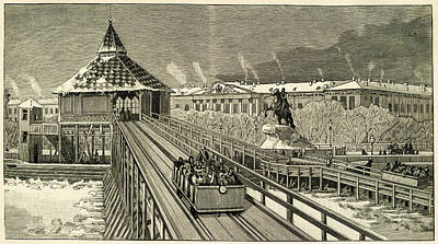 Temporary Railway Constructed Art Print by Mary Evans Picture Library