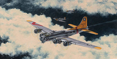 B-17 Wall Art - Painting - Temporary Reprieve by Wade Meyers