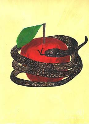 Fruit Tree Art Painting - Temptation by Karen Jane Jones