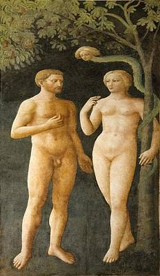 Temptation Of Adam And Eve Art Print by Sheila Terry