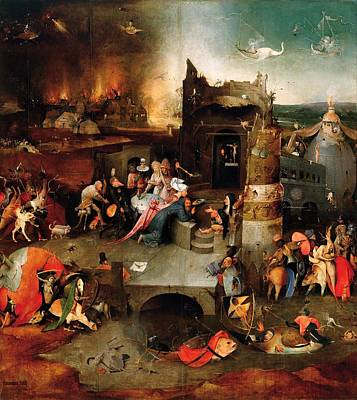 Temptation Of Saint Anthony - Central Panel Art Print by Hieronymus Bosch