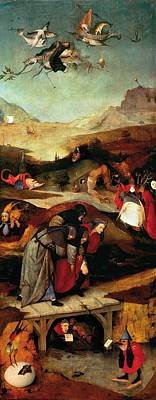 Left-wing Painting - Temptation Of Saint Anthony - Left Wing by Hieronymus Bosch