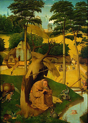 Contemplative Photograph - Temptation Of St. Anthony, 1490 Oil On Panel by Hieronymus Bosch
