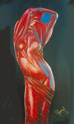 Art Print featuring the painting Temptation by Ragunath Venkatraman