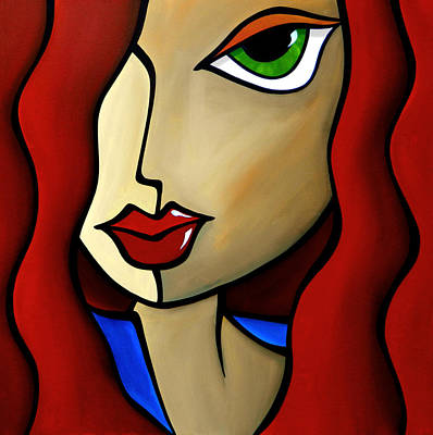 Dog Abstract Art Painting - Temptress by Tom Fedro - Fidostudio