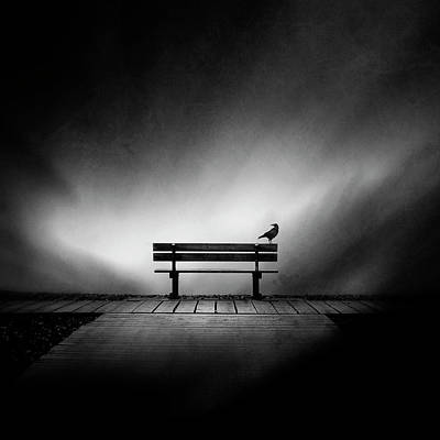 Benches Photograph - Tempus Fugit by Sebastien Del Grosso